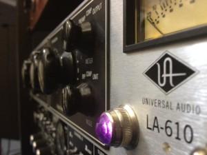 Universal Audio LA610 in the studio