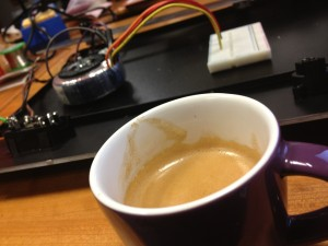 Espresso top-up after testing power supply