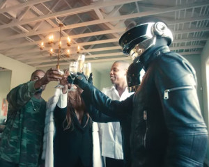 Tidal partners drink champagne